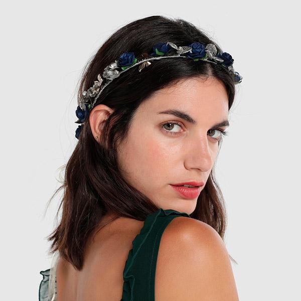 Corona de flores de Carmen Font