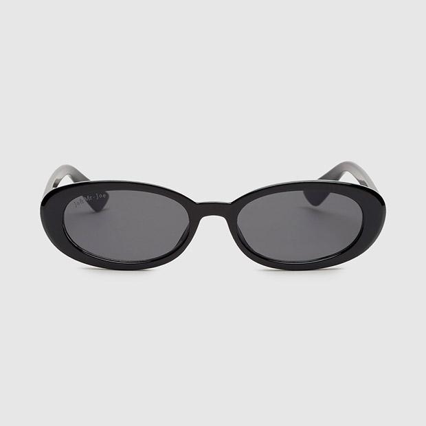 Accesorios otoño 2019: Gafas de sol de Jo & Mr Joe con montura oval marrón