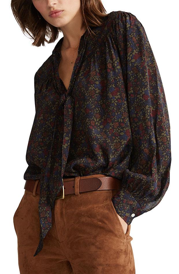blusa con lazo de adolfo dominguez