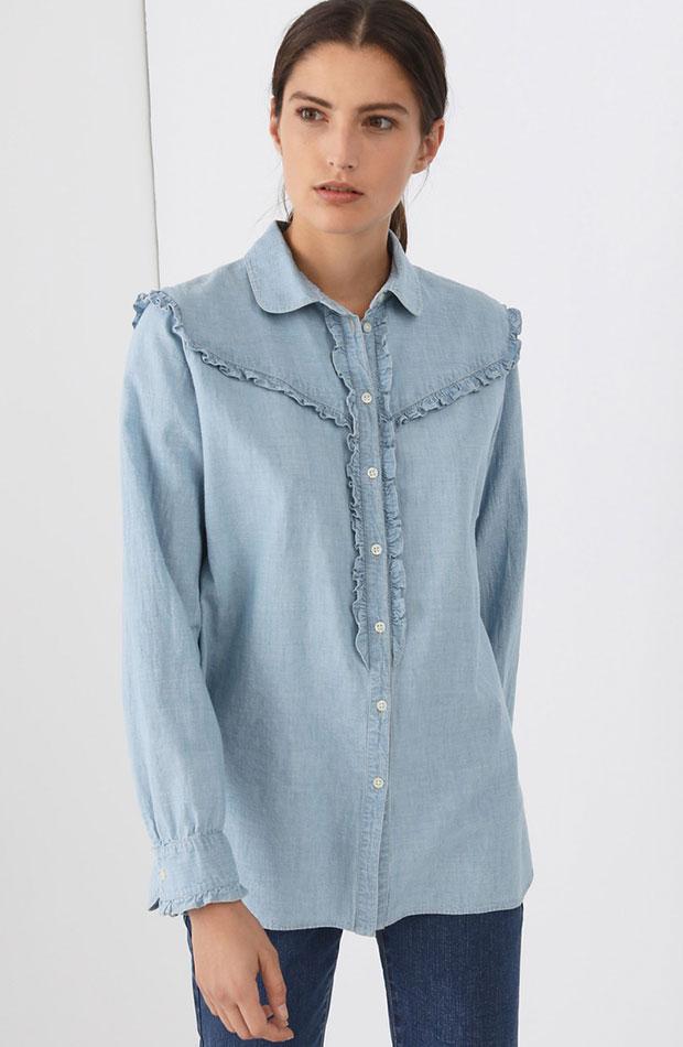 blusa con volantes de lloyds