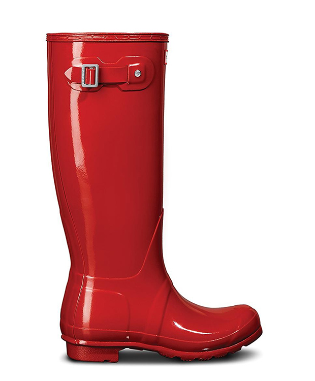Botas de agua rojas de Hunter