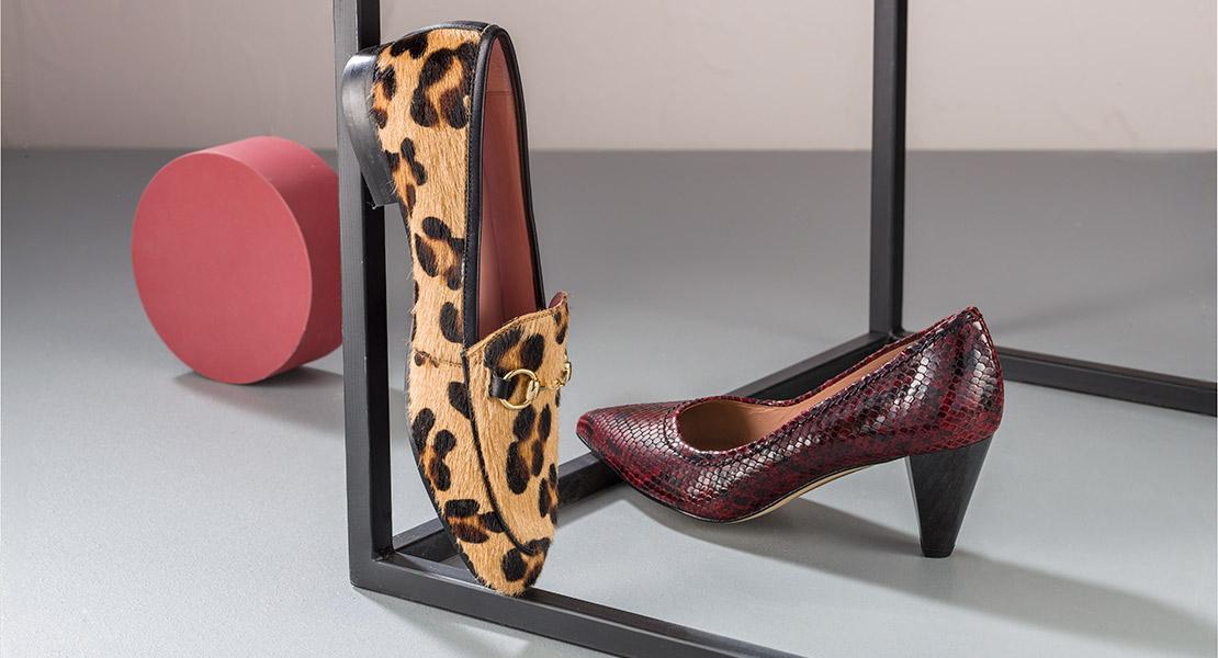 calzado animal print bailarinas