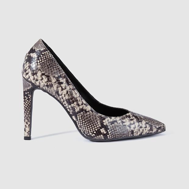 calzado animal print salones piel serpiente