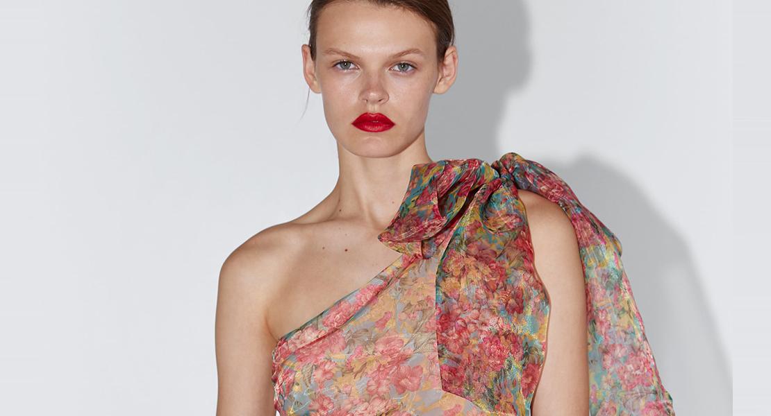 vestido de flores zara