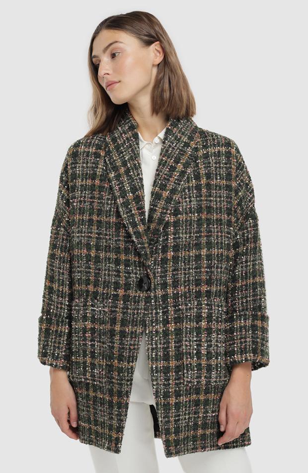 abrigo de cuadros