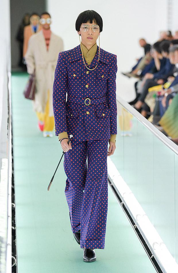 Gucci primavera verano 2020 traje lunares
