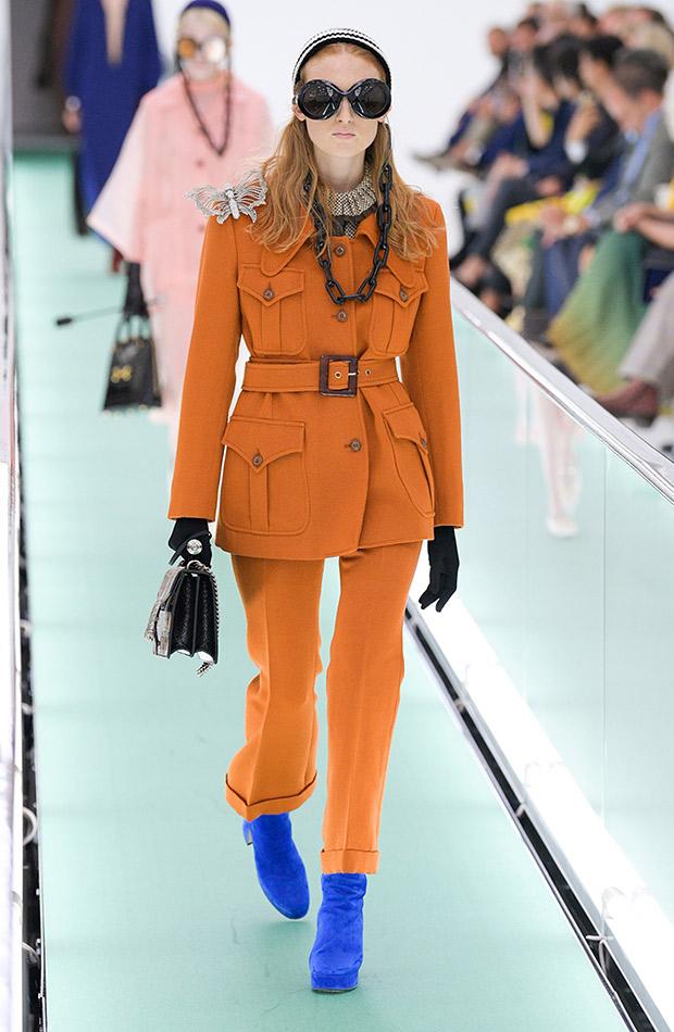 Gucci primavera verano 2020 conjunto naranja