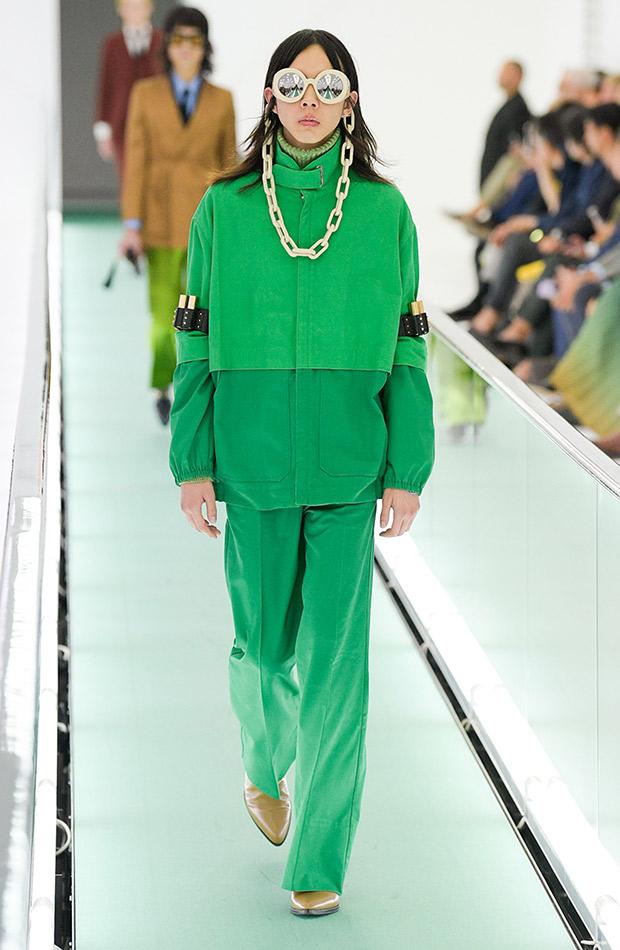 Gucci primavera verano 2020 conjnunto verde