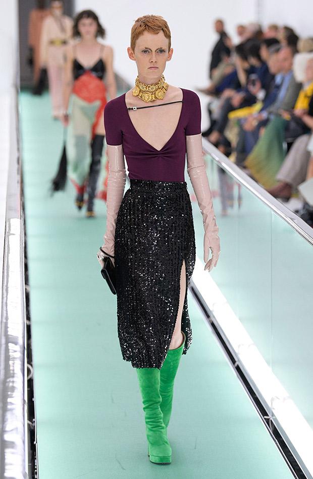 Gucci primavera verano 2020 falda brillante