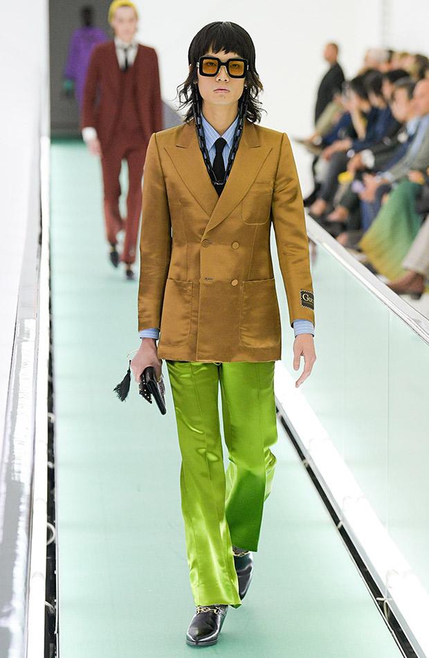 Gucci primavera verano 2020 hombre pantalon verde