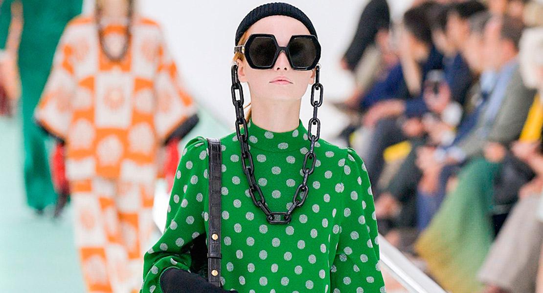 Gucci primavera verano 2020 vestido lunares