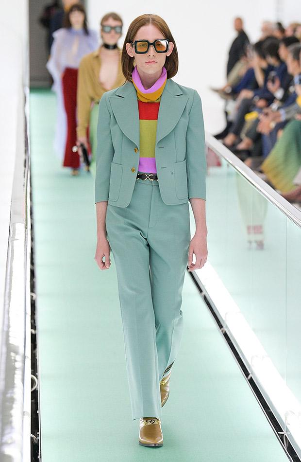 Gucci primavera verano 2020 conjunto menta