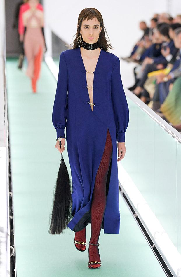 Gucci primavera verano 2020 vestido azul