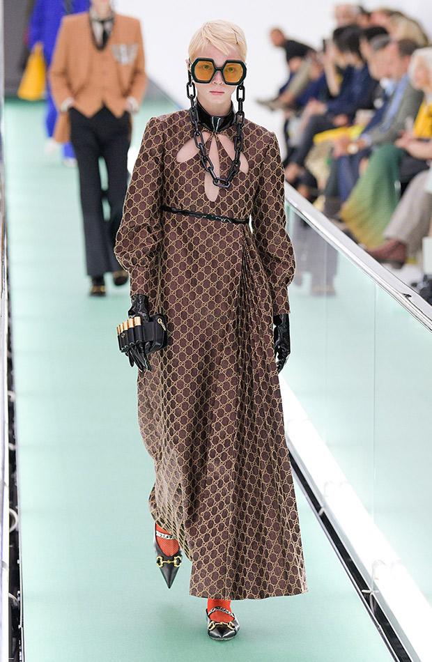 Gucci primavera verano 2020 vestido estampado