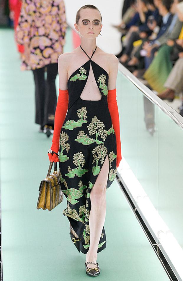 Gucci primavera verano 2020 vestido japones