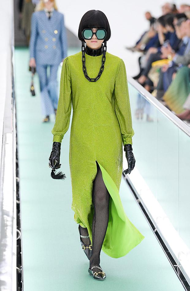 Gucci primavera verano 2020 vestido terciopelo lima