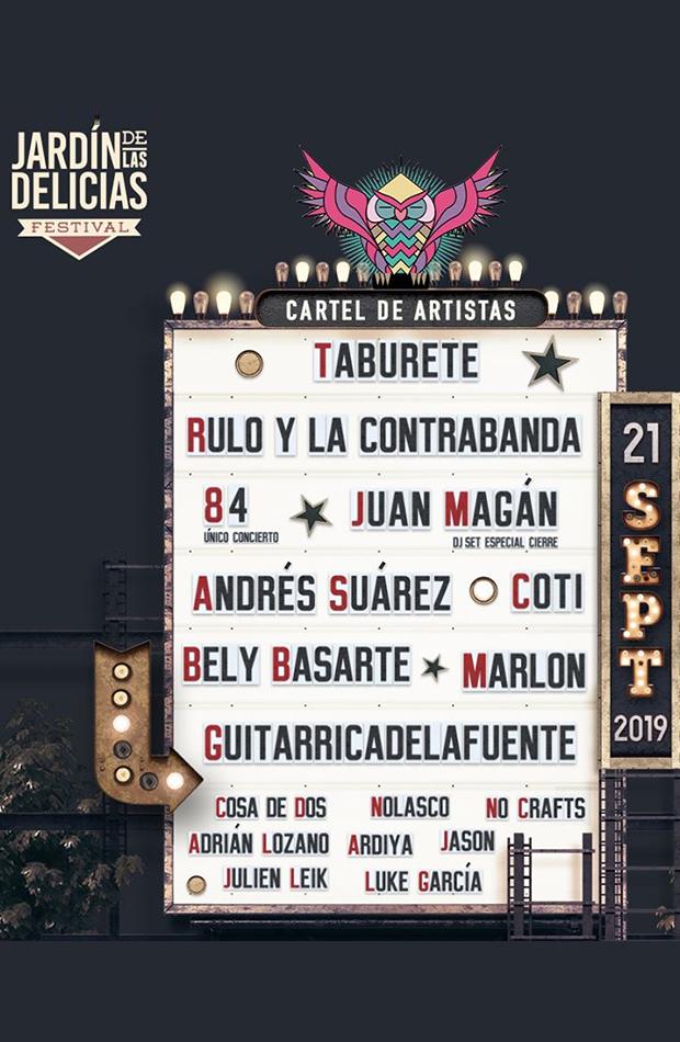 jardin de las delicias cartel septiembre 2019