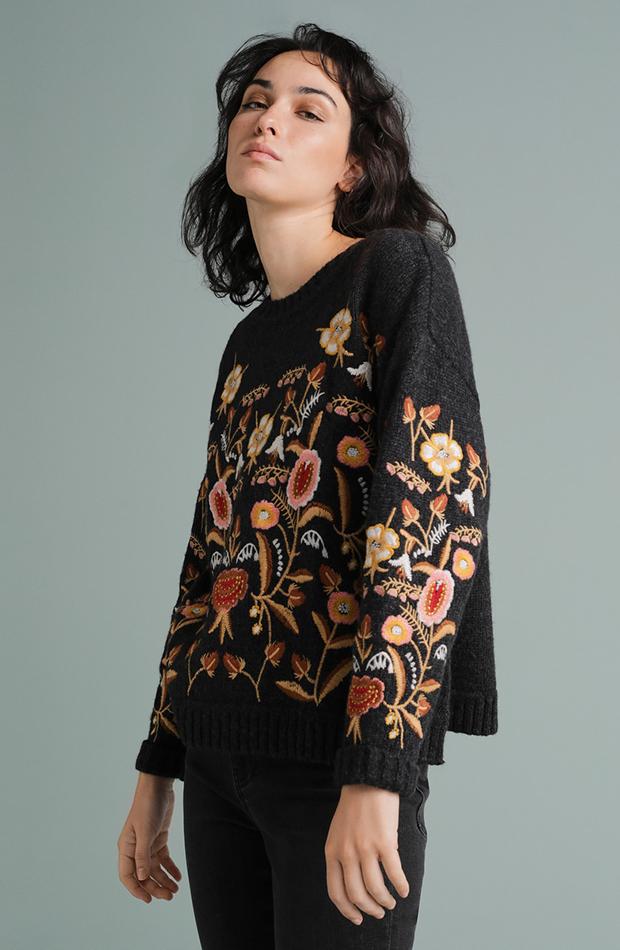 jersey con flores de tintoretto