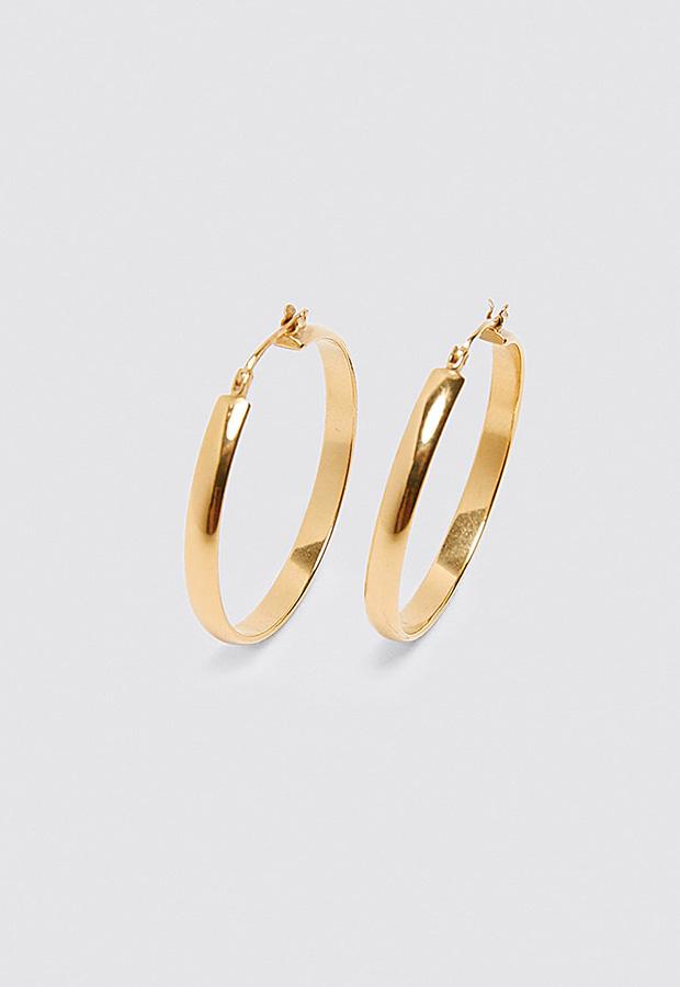 Looks de oficina de Zara: Pendientes de aro