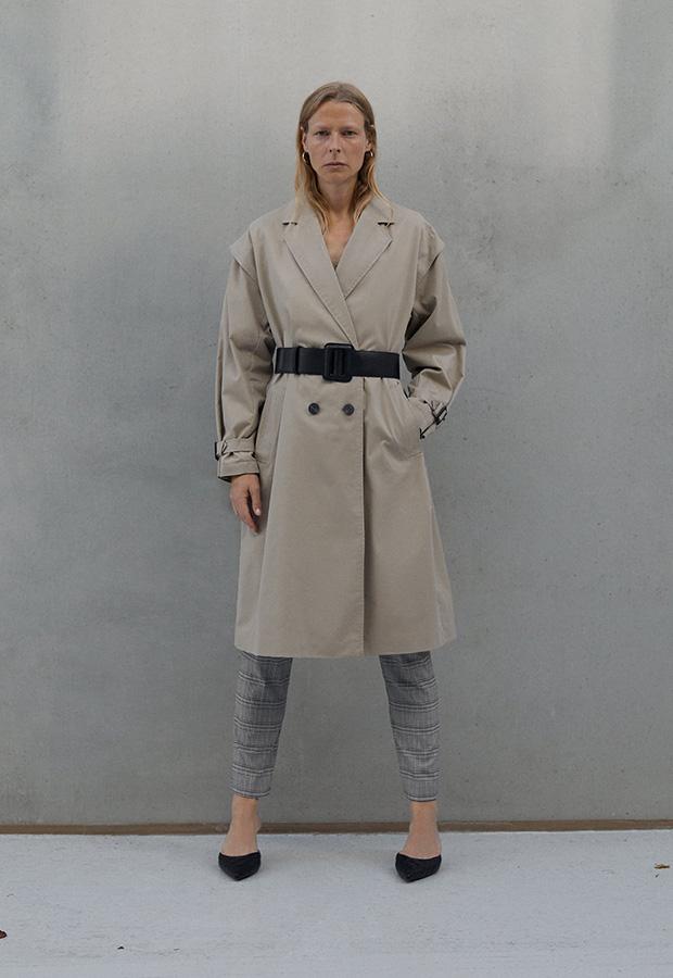 Trench beige de Zara