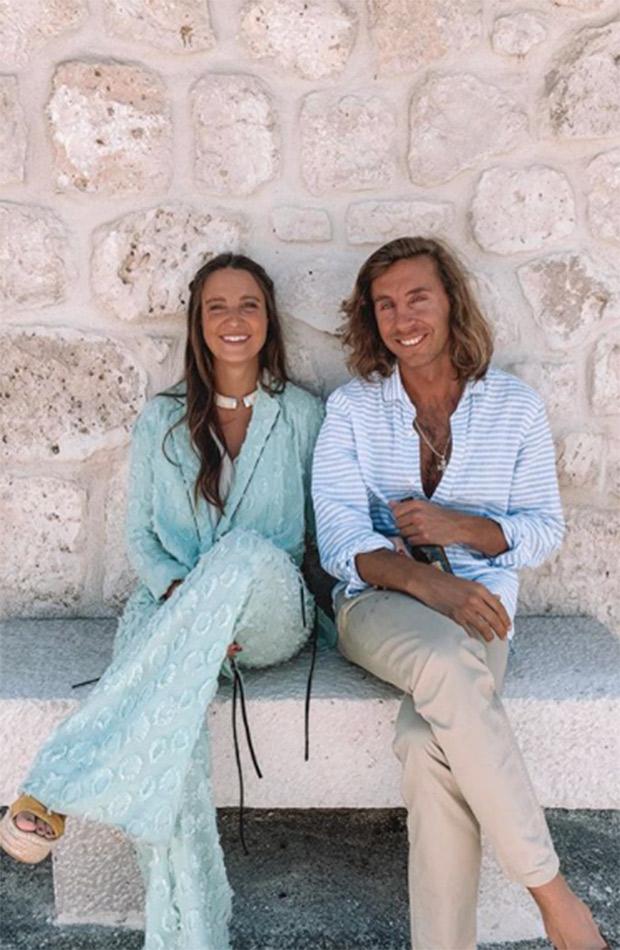 Marta Pombo con Luis Giménez