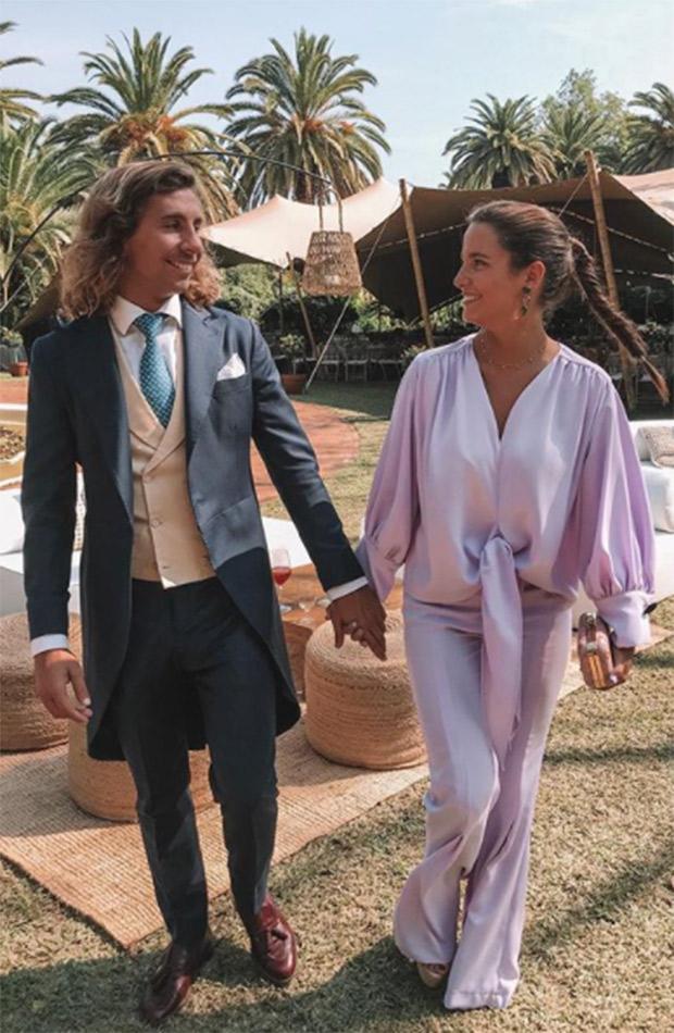 Marta Pombo con Luis Gimenez boda