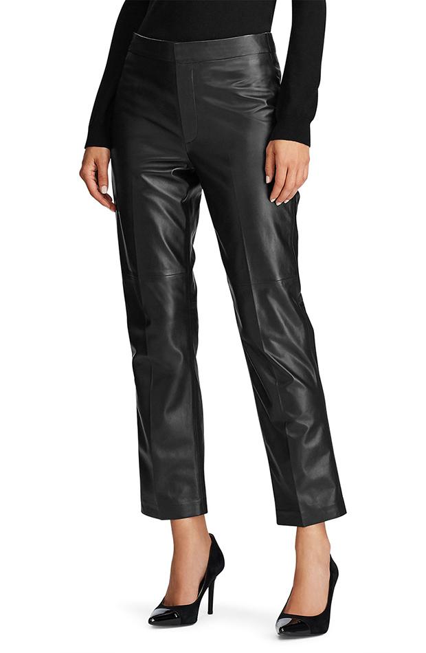pantalones de cuero rectos prendas en tendencia