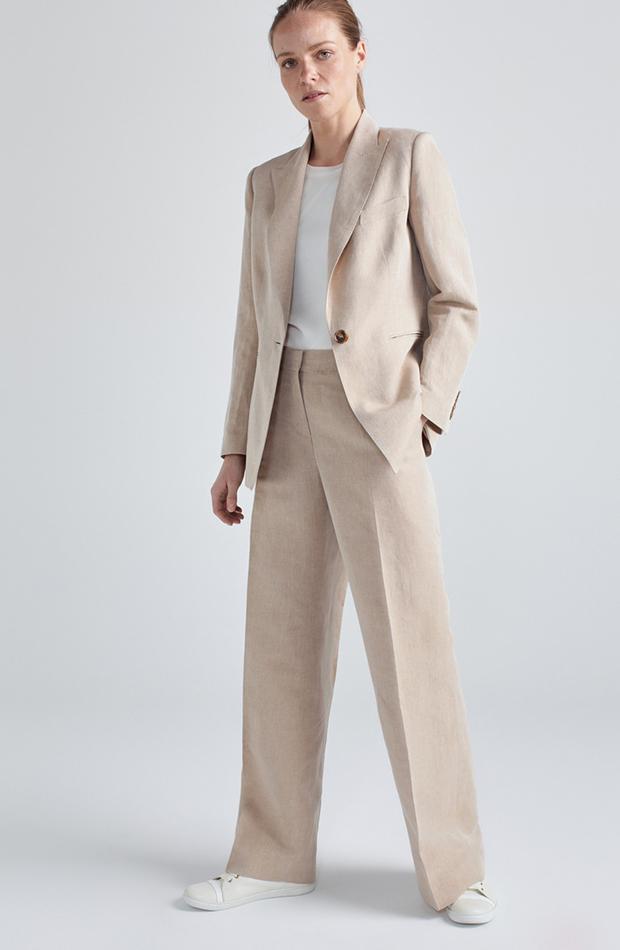traje de chaqueta beige woman limited