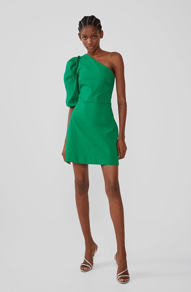 Vestido mini con escote asimétrico