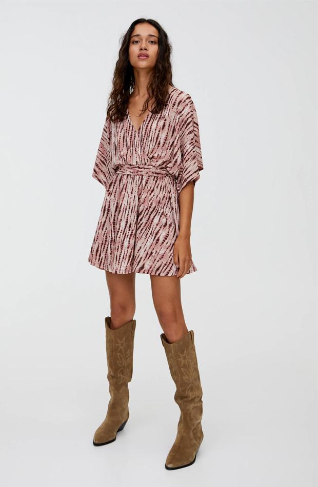 vestido corto tie dye