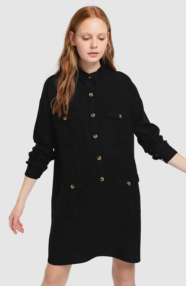 Vestido de Easy Wear camisero multibolsillos