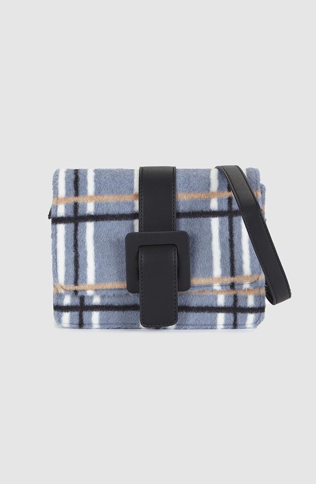 estampado de cuadros bolso mini bandolera