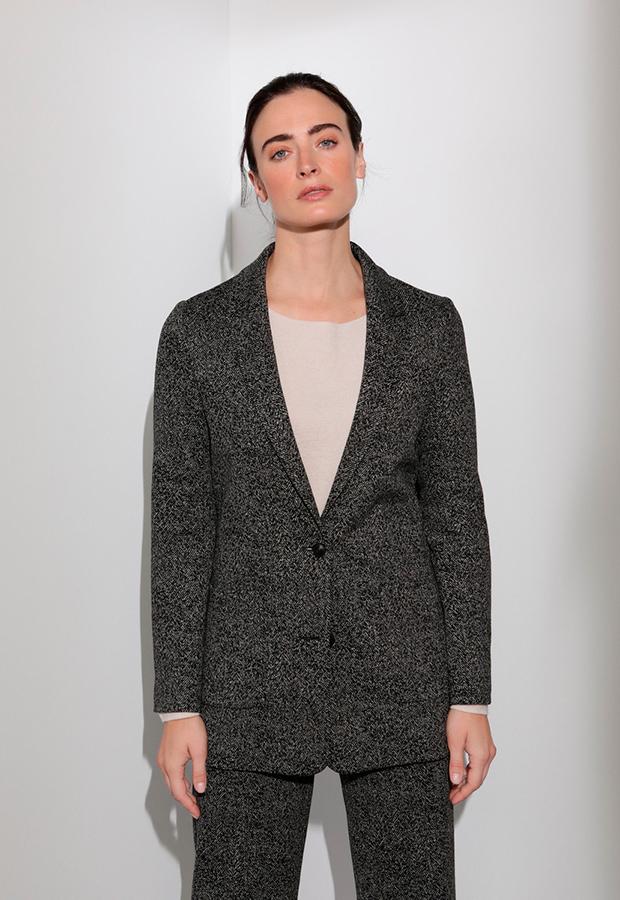Blazer jaspeada gris de Woman Limited El Corte Inglés