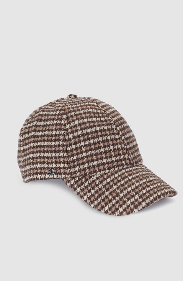 estampado de cuadros vichy gorra