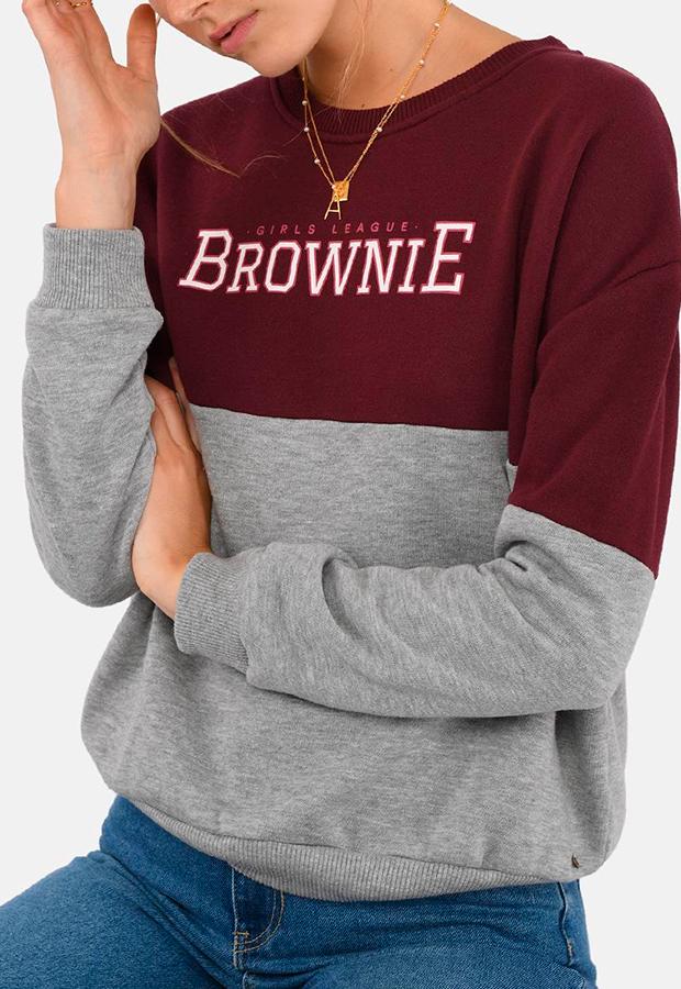 Sudadera de estilo varsity de Brownie