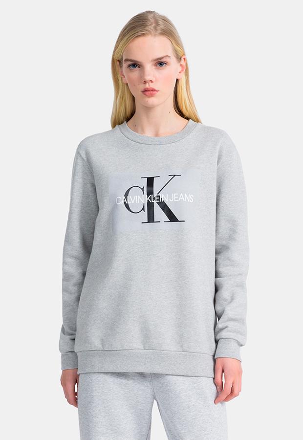 Sudadera gris de Calvin Klein