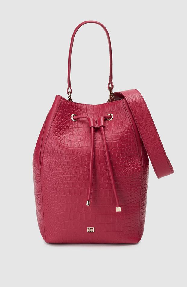 bolso tipo saco rosa