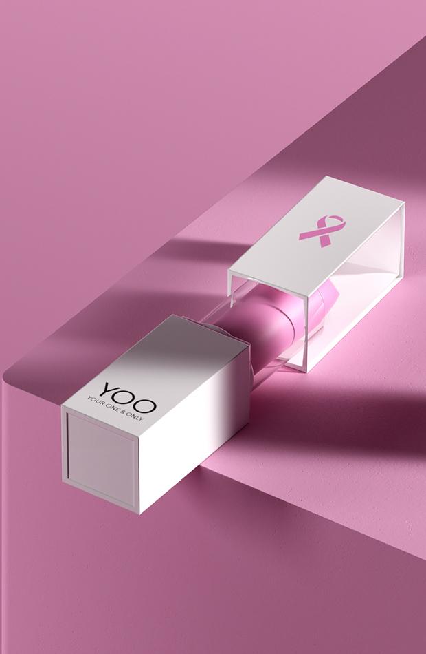 Marcas se unen contra cáncer de mama barra de labios de YOO