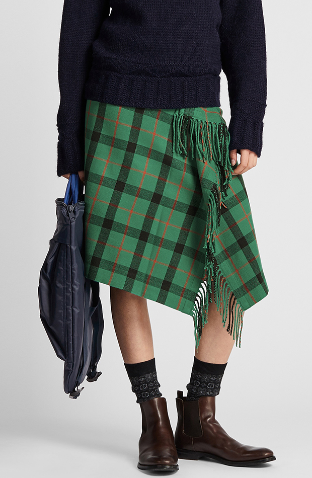 Amor por los básicos Uniqlo falda escocesa