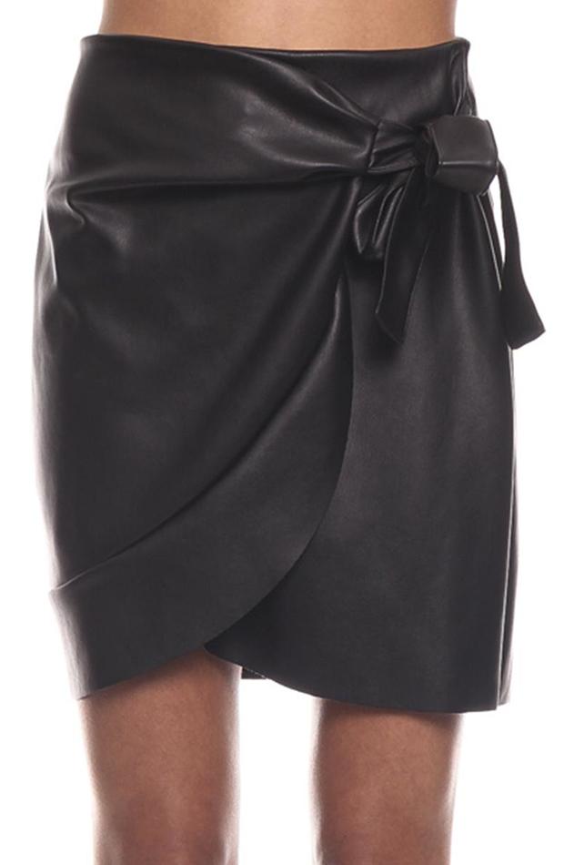 efecto cuero falda