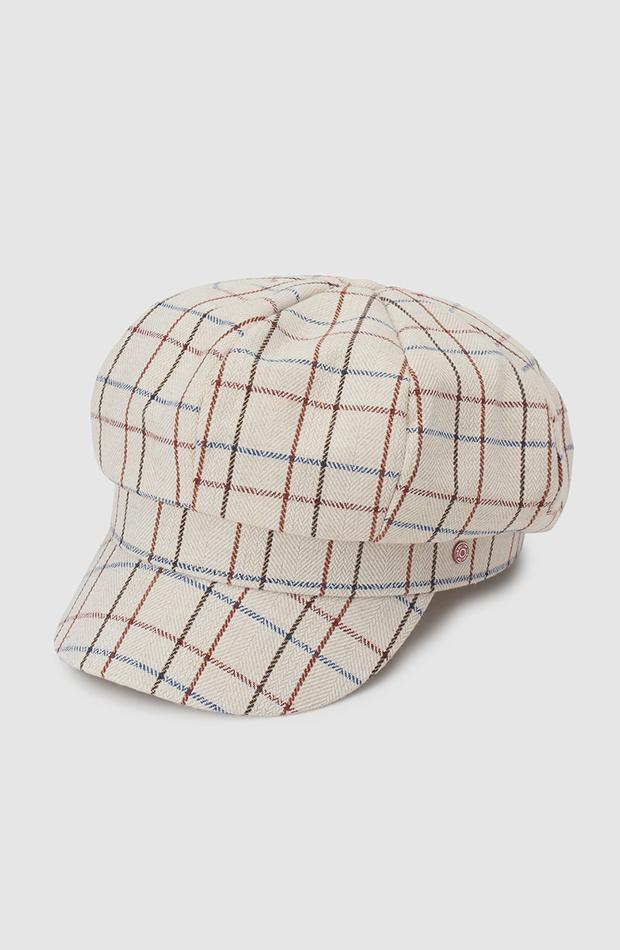 estampado de cuadros gorra baker