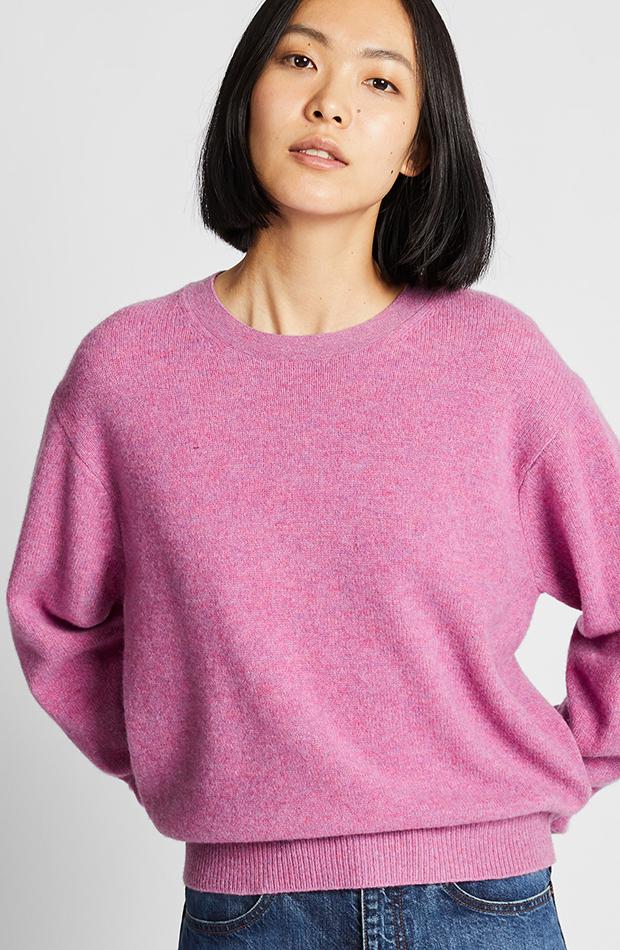 Amor por los básicos Uniqlo jersey rosa
