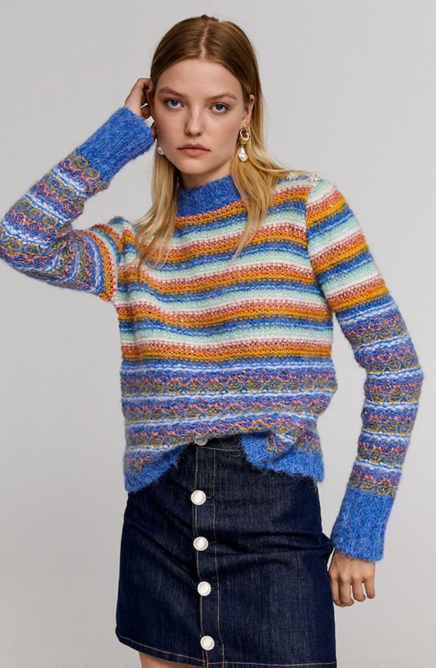 Colección de Leandra Medine para Mango jersey de colores