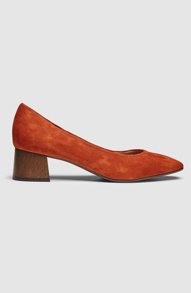 zapatos de salon color naranja gloria ortiz