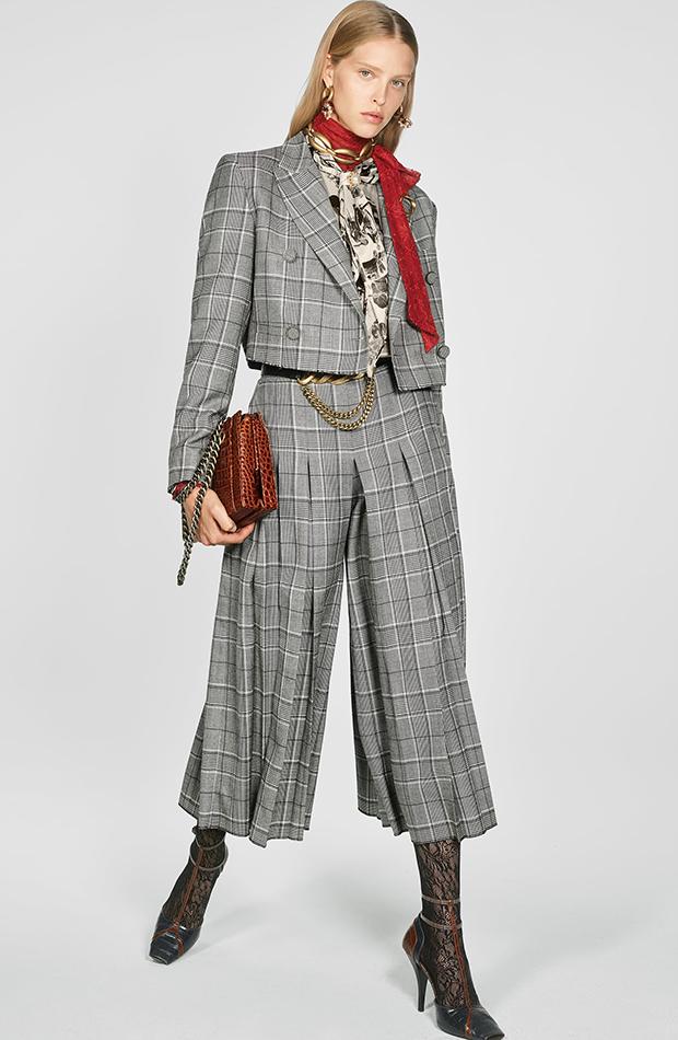 Zara Campaign Collection traje cuadros