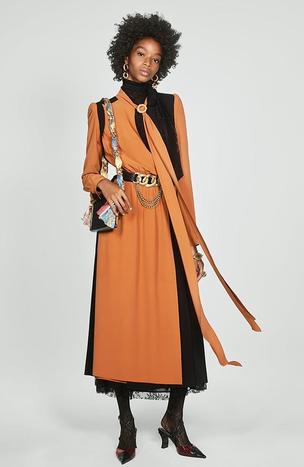 Zara Campaign Collection vestido bicolor