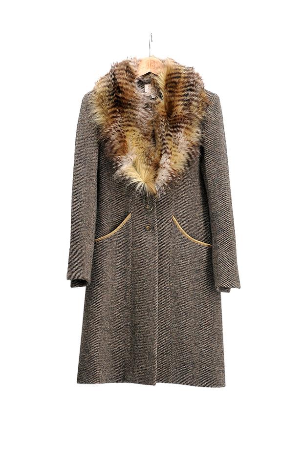 T.ba abrigo combinado de pelo