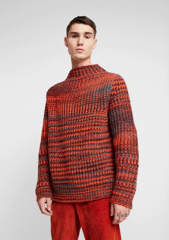 Armario masculino alternativo jersey naranja Samsoe