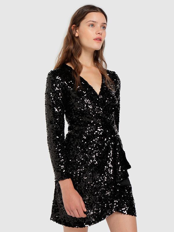 Vestido de lentejuelas de Black Friday con descuento en el Black Friday 2019 de El Corte Inglés