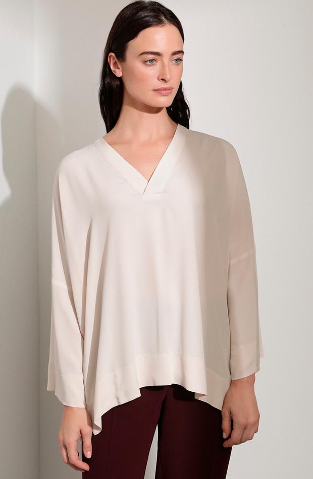 blusa blanca escote pico woman el corte ingles looks para cena de empresa